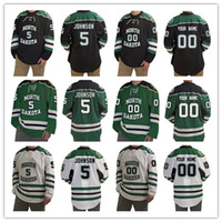 North Dakota Fighting Hawks 4 Andrew Peski personalize Any name Any number  mens women youth Custom Stitched Hockey Jersey White Black Green b8c63ee74