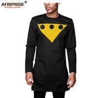 Traje Africano por Homens Long Sleeve Slim Fit shirt calças Set Treino `s Dashiki shirt do terno AFRIPRIDE A2016006