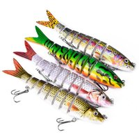 Fishing Lures for Bass Multi- jointed Swimbaits 3D Eyes S- sha...