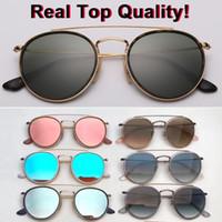 nuovo marchio di design rotondo di metallo occhiali da sole Donne Uomini gradiente Flash 3647 Occhiali da Sole Lunetta Oculos De Sol Masculino Feminino Occhiali Mujer 51 millimetri