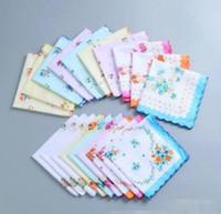hot 100% Algodão Lenço cortador Ladies Handkerchief Craft Vintage lenço floral do casamento Handkerchief 30 * 30 centímetros