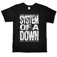 System Of A Down Divertente Music T Shirt Rock and Roll Punk Hip Hop degli uomini del cotone via T-shirt O manica corta Tees Camicia Casual Stampa Top