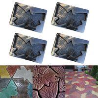 4x Pavement Mold Pátio Stepping Betão Caminho de pedra Mold Maker - borboleta