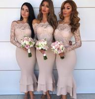 Robes de demoiselle d'honneur rose blush 2019 Modest Nigérian africaine Maid of Honore Robes de mariée Formel Fête de mariage Vestidos de Fiesta