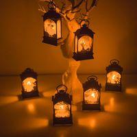 장식 파티 장식을 매달려 할로윈 빈티지 성 호박 마녀 유령 라이트 램프 LED 등불 축제 파티 만화 그림 공급