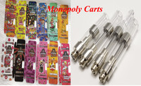 Monopoly Carts Holographic Vape Cartridge Packaging 510 Cartucce ceramiche Vuoto Vape Dank Tko Cookies Smart atomizzatore penna atomizzatore a penna