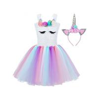 Los niños niñas princesa Cosplay disfraces vestido para niños disfraz de Halloween hasta la rodilla vestir Fancy Party ropa de carnaval