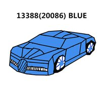 20001 20001B 20086 Technic Series Blue Super Racing Car Compatibile 42056 42083 mattoni autobloccanti Giocattoli per bambini Regalo 3388