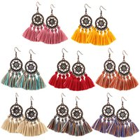Boho Tassel Earrings Creative Fan Shape Earrings Vintage Dan...