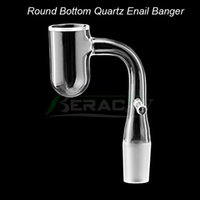DHL !!! Beracky 16mm 20mm Biselado Edge Quartz Enail Banger Round Bottom 10mm 14mm 18mm Male Female Quartz Nails For Glass Bongs Dab Rigs