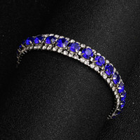 Bridal Bracelets Dazzling Blue Rhinestones Beaded Wedding for Bridal 5 Colors The Great Gatsby Bracelets Girls Party Accessories Cheap