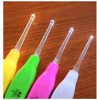 العناية الأذن مولي استخدام LED ضوء الحفار السلامة بيك أب الأذن تنظيف المصباح الشمع مزيل الأذن نظيفة ملعقة مضيئة أداة الضوء