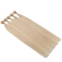 كيراتين إيطالي لتمديد الشعر 100٪ ريمي هندي مسبوق بآخر يو غيض 1 جرام / حبلا ، 100 كبسولة حواف مسمار كبسولة لون الشعر 60