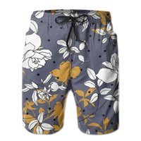 Men' s Beach Short Swim Shorts Floral Roses Surfing Mail...