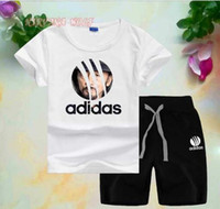 AD Little Kids Sets 1- 7T Childrens O- neck T- shirt Short Pant...