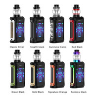 Original Geekvape Aegis X 200W TC Kit mit neuem AS 2.0 Chipsatz Mod 5.5ml Cerberus Panzer Super Mesh x1 0.2 Ohm Vape Kit