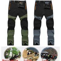 Hommes Mode Pantalon tactique imperméable Cargo Randonnée Escalade Ski Combat Pantalons longs