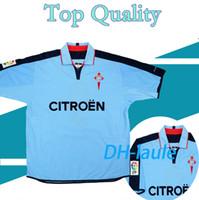 2002-04 الرجعية Celta Vigo Home Football Shirt 02 04 Oldest Season Camiseta Milisevic Milesovoi Berizzo Vagner Juanfran Soccer Jersey