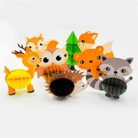 Waldtier Honeycomb Papierlaterne Kinder Tier-Geburtstags-Party-Dekorationen Fox Honeycomb Owl Hedgehog Honeycomb yq01465