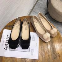 뜨거운 판매 - 2019가 조기 동쪽 게이트 스퀘어 밍크 Maojianyue 편안한 조커 싱글 신발 부인 증가합니다