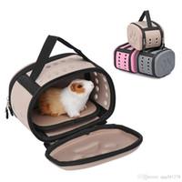 Küçük Köpekler Kediler için Pet Taraflı Taşıyıcı Seyahat Çantası Katlanır Taşıyıcı Kafes Katlanabilir Sandık Tote Çanta İçme ...