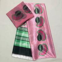 4y + 2yards / lote top venda rosa coreia chiffon tecido laço de tecido impresso padrão africano macio material de cetim para molho ls10-8