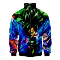 Super Broly 3D Slim Fit Windjacke Herren Slim Fit Zipper Fashion Trend Freizeitjacke Windjacke