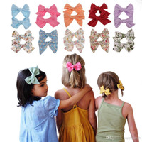 Fashion Baby hairclips Bow Hairpin Clips Girls Flower Bowkno...