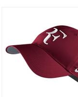 Los hombres al por mayor gorras de béisbol de RF de tenis Ventiladores COOL CAPS Primavera Otoño de béisbol del casquillo del Snapback del camionero del deporte del tenis, Roger Federer Caps Sombrero
