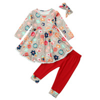 good quality Baby Girls clothes set 2PCs Winter clothes Flor...