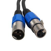 linha de sinal AUCD 3 pinos DMX (1M 5M 10M) Masculino e Feminino LED PAR luzes do palco DMX equipamentos cabo dj 100% novo DMX-1M