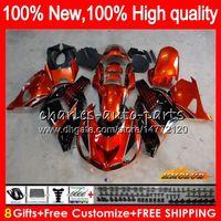 OEM inyección para Kawasaki ZZR1400 ZX 14R 2006 2007 2008 2009 2010 2011 49HC.3 ZX14R ZX14R ZZR1400 naranja negro 06 07 08 09 10 11 carenado