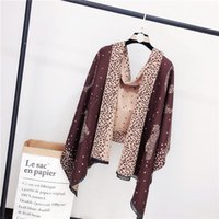 2019 brand double-sided cashmere scarf women autumn and winter Korean version of a two-color combination of thick thermal leopard print.n