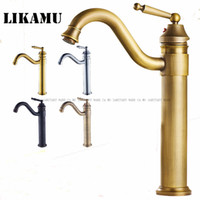 Basin brass faucets bend vintage fashion bathroom kitchen si...