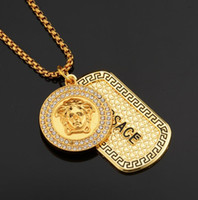 Mens Iced Out Pendant Hip Hop Designer Jewelry Collana con diamanti Oro Miami Cuban Punk Link Chain