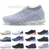 Nike Vapormax Flyknit air max 2019 malha 2,0 Fly 1,0 Running Shoes Homens Mulheres BHM Red Orbit Ouro metálico Triplo Preto Sapatilhas Sapatilhas 36-45 HJ954