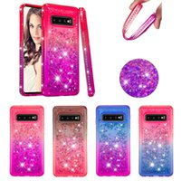 Diamond Liquid Soft TPU Cover Luxury Cases For Samsung S10 S...