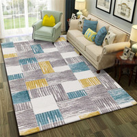 Nordic Style Gray Striped Large Size Carpets For Living Room...