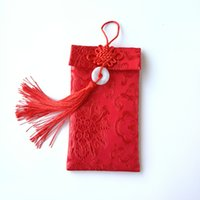 Fabric red envelope general wedding red envelope wedding profit is a wedding gift silk red envelope