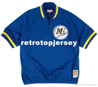 Ken Griffey Jr. Seattle # 24 Mitchell Ness Retro 1992 Jacket Warm-Up