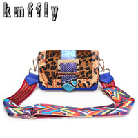 Fashion Leopard Women Shoulder Bags With Color Shoulder Stra...
