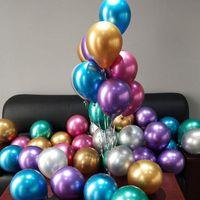 12-Zoll-Metallfarbe Latexballon Geburtstagsparty, Hochzeit, Hochzeit Dekoration Ballon Nixe Thema Layout