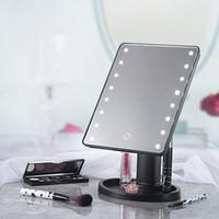 16 Свет водить зеркало для макияжа с сенсорным экраном Макияж Зеркало 180 градусов вращения USB Charge косметического зеркало портативного Зеркало GGA3133