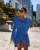 Дешевые летние горячие шифоновые шали солнцезащитного крема и бикини блузок бикини Лимонный пляж купальник цвета Cover-Ups MXI заказ