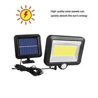 100/56/30 LED Güneş Enerjisi Sokak Işık PIR Hareket Sensörü Lambaları Bahçe Güvenlik Lamba Açık Sokak IP65 su geçirmez Duvar Işıklar i monte bölünmüş