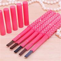 Maquillage Sourcils exhausteurs Liner Pencils Brown Crayon carré Rotation automatique sans coupure étanche délicat Pas 5 Blooming Couleurs SZ101