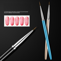 Nail line drawing pen high grade very fine line marking nail polish glue hook painting pen carving pen set