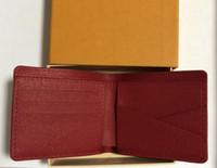 2018 محافظ محفظة الرجال محفظة جديد ماركة جلد محفظة، أزياء الرجال محفظة أرتيرا الغمد قصيرة عملة جيب الرجال محفظة مع صندوق