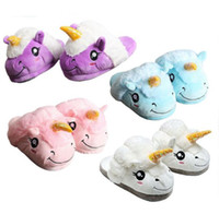 Winter Kids Cute Unicorn Home Shoes For Adults Children Bedr...