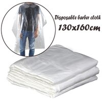 50 100 Pcs PE Waterproof Apron Disposable Hairdressing Capes...